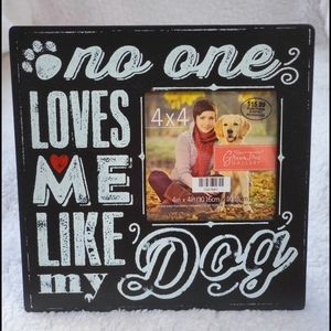 Dog Lover Picture Frame - 4x4 Photo